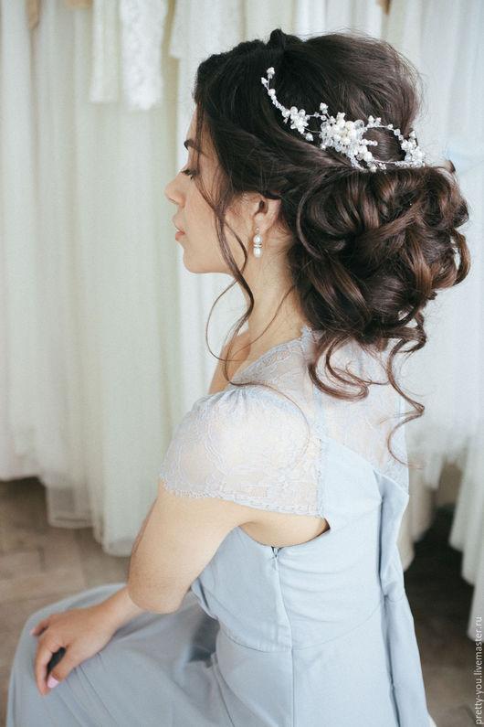 Свадебные украшения ручной работы. Ярмарка Мастеров - ручная работа. Купить Гребень свадебный жемчужный. Украшение свадебное для прически невесты. Handmade.