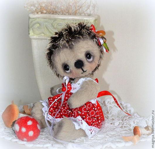 Мишки Тедди ручной работы. Ярмарка Мастеров - ручная работа. Купить Ежик Фелисита. Handmade. Еж, бежевый, мохер