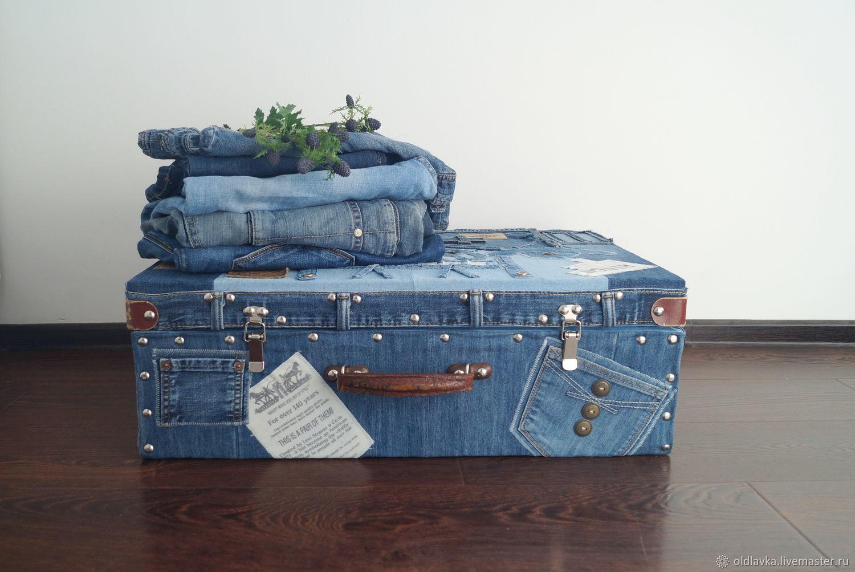 Interior denim suitcase ' Saloon', Suitcase, Petrozavodsk,  Фото №1