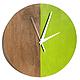 Часы для дома ручной работы. Заказать Часы настенные Форест. Часы ручной работы.. Ansem-store. Ярмарка Мастеров. зеленый