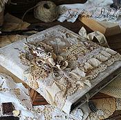 Recipe books handmade. Livemaster - original item Cooking book dividers Vintage c vintage beige flowers lace. Handmade.