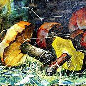 """Картины и панно ручной работы. Ярмарка Мастеров - ручная работа """"ГРИБЫ"""" холст/масло. Handmade."""