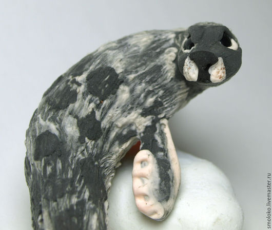 Игрушки животные, ручной работы. Ярмарка Мастеров - ручная работа. Купить Нерпа, миниатюрный ночник из бархатного пластика. Handmade. светильник