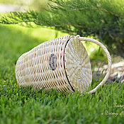 Классическая сумка ручной работы. Ярмарка Мастеров - ручная работа Сумки: Плетеная сумка-корзинка Джейн. Handmade.