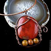 """Украшения ручной работы. Ярмарка Мастеров - ручная работа Кулон """"Яблоки на снегу"""". Handmade."""