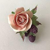 Свадебный салон handmade. Livemaster - original item Hairpin for bride hairstyle with rose BlackBerry. Handmade.