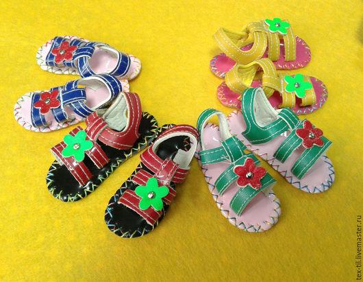 Куклы и игрушки ручной работы. Ярмарка Мастеров - ручная работа. Купить Босоножки для кукол. Handmade. Комбинированный, обувь для куклы