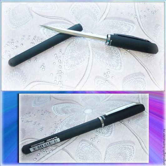 """Оружие ручной работы. Ярмарка Мастеров - ручная работа. Купить Ручкка-нож """"007"""". Handmade. Черный, нож, подарок мужчине"""