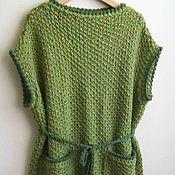 Одежда ручной работы. Ярмарка Мастеров - ручная работа Жилет зеленого цвета с накладными карманами из итальянского твида. Handmade.