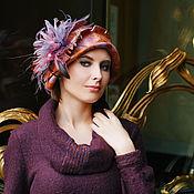 """Аксессуары ручной работы. Ярмарка Мастеров - ручная работа дизайнерская шляпка из фетра"""" Дэйзи"""". Handmade."""