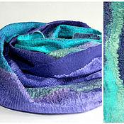 Аксессуары ручной работы. Ярмарка Мастеров - ручная работа шарф валяный Сказочная река. Handmade.