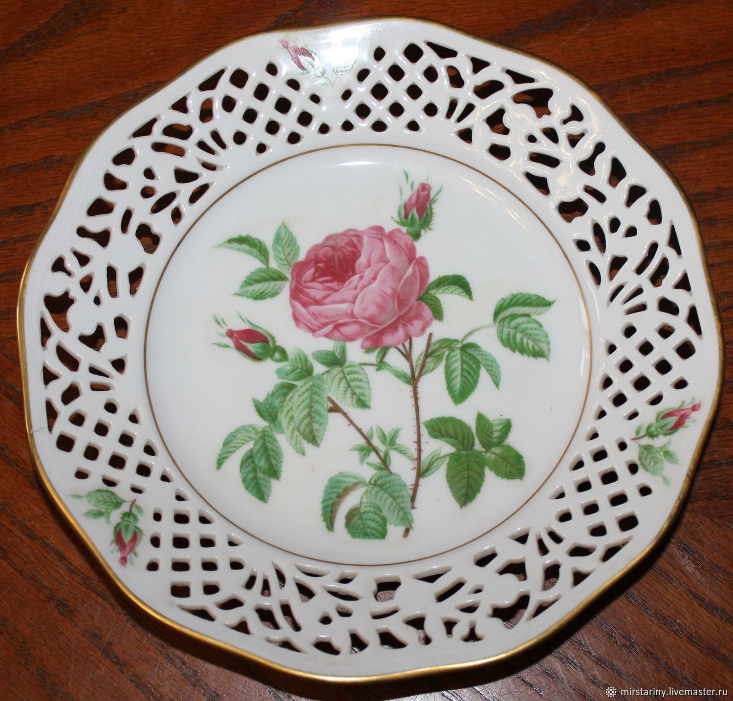 Collector's plates with roses, Welt porcelain, Schumann, Germany, Vintage interior, Moscow,  Фото №1