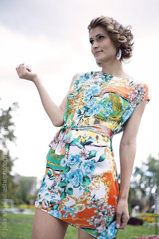 Пляжные платья ручной работы. Ярмарка Мастеров - ручная работа. Купить Летнее платье-туника. Handmade. Цветочный, летняя туника