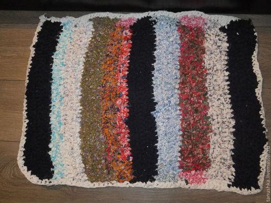 Текстиль, ковры ручной работы. Ярмарка Мастеров - ручная работа. Купить Вязаный коврик  в деревенском стиле. Handmade. В деревенском стиле