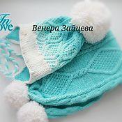Работы для детей, ручной работы. Ярмарка Мастеров - ручная работа Шапка+шарф. Handmade.