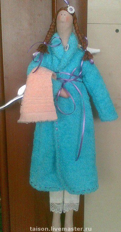 Куклы Тильды ручной работы. Ярмарка Мастеров - ручная работа. Купить Банный ангел. Handmade. Синий, подарок, хлопок