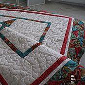 """Для дома и интерьера ручной работы. Ярмарка Мастеров - ручная работа Лоскутное одеяло """"Имбирь"""". Handmade."""