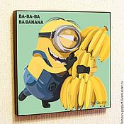 Картины и панно handmade. Livemaster - original item Painting poster Pop Art Minion, Despicable me. Handmade.