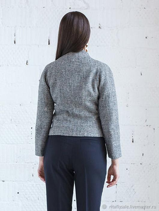 bee9d2dc9b0 Ярмарка Мастеров - ручная работа. Купить 366  46 размер Верхняя одежда ручной  работы. 366  46 размер - женский пиджак на молнии.