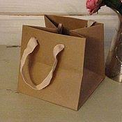 "Пакеты ручной работы. Ярмарка Мастеров - ручная работа Бумажный пакет беж ""Беж"" редкий размер. Handmade."