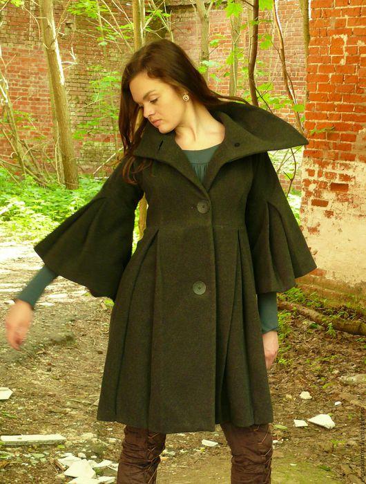 Верхняя одежда ручной работы. Ярмарка Мастеров - ручная работа. Купить Пальто с шелковой подкладкой. Handmade. Пальто женское