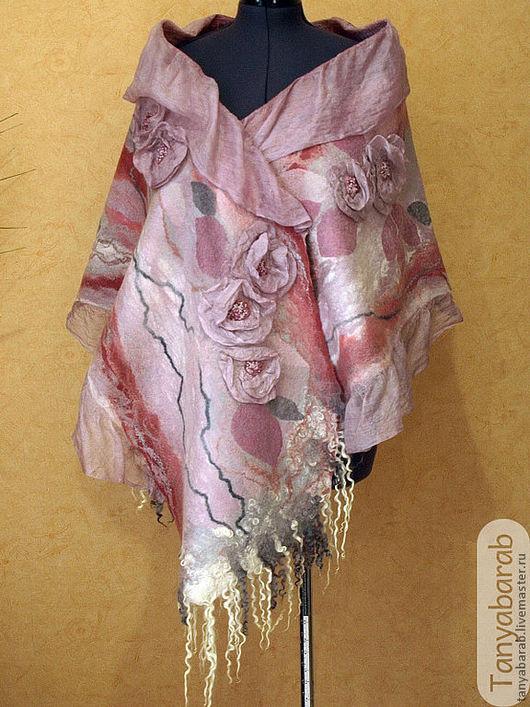 """Шали, палантины ручной работы. Ярмарка Мастеров - ручная работа. Купить Палантин """"В розовом цвете..."""". Handmade. шерсть"""