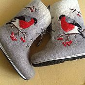 """Обувь ручной работы. Ярмарка Мастеров - ручная работа Ботинки """"снегири"""". Handmade."""