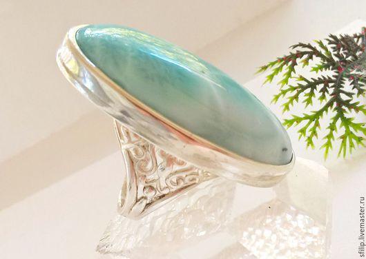 """Кольца ручной работы. Ярмарка Мастеров - ручная работа. Купить Кольцо """"Афродита"""" -ларимар,серебро 925. Handmade. Морская волна"""