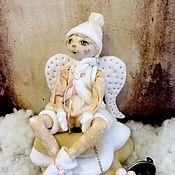 Куклы и игрушки ручной работы. Ярмарка Мастеров - ручная работа текстильная авторская кукла Снежный Ангел. Handmade.