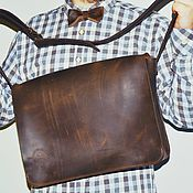 """Классическая сумка ручной работы. Ярмарка Мастеров - ручная работа Кожаная сумка """"Герман"""" кофейного цвета. Handmade."""