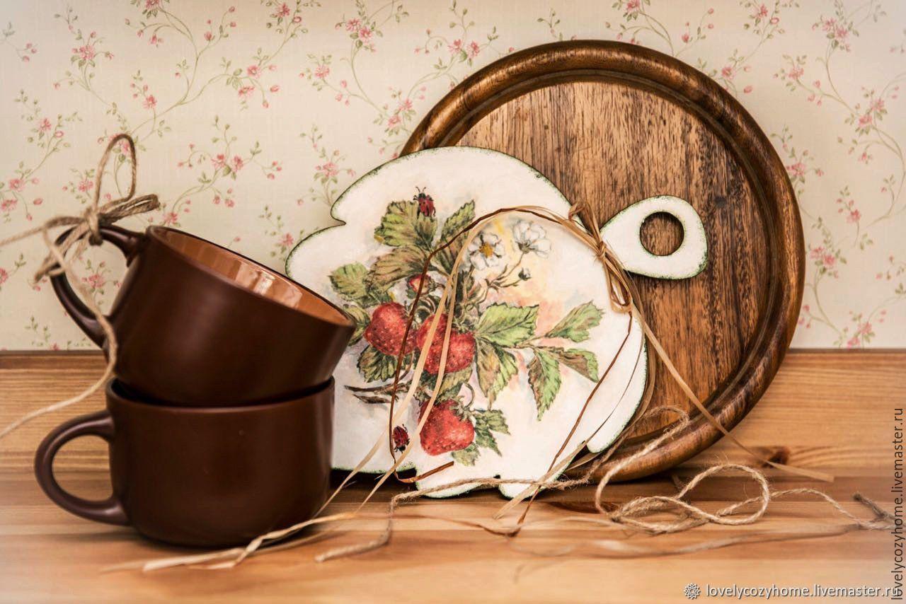 Доска разделочная деревянная декоративная Ягодное настроение Дача, Утварь, Москва,  Фото №1