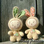 Куклы и игрушки ручной работы. Ярмарка Мастеров - ручная работа Зайчишки-малышки. Handmade.