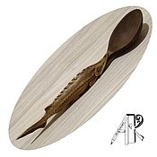 Для дома и интерьера handmade. Livemaster - original item Wooden carved serving spoon