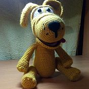 Мягкие игрушки ручной работы. Ярмарка Мастеров - ручная работа Игрушки: Собака Лайк. Handmade.