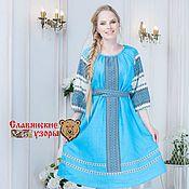 Одежда handmade. Livemaster - original item Dress made of linen