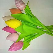 Декор в стиле Тильда ручной работы. Ярмарка Мастеров - ручная работа Тюльпаны в стиле тильда. Handmade.