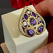 Украшения handmade. Livemaster - original item Ring Earrings natural amethyst, 925 sterling silver.. Handmade.