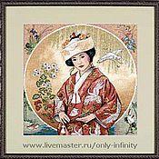 Картины и панно ручной работы. Ярмарка Мастеров - ручная работа Японская девушка. Handmade.