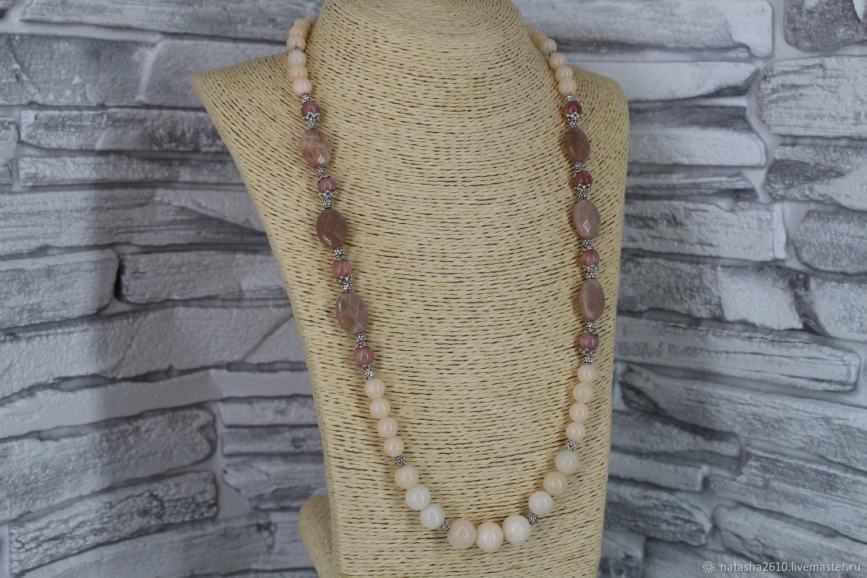Beads made of heliolite and angelite ' Sunny stone', Beads2, Velikiy Novgorod,  Фото №1