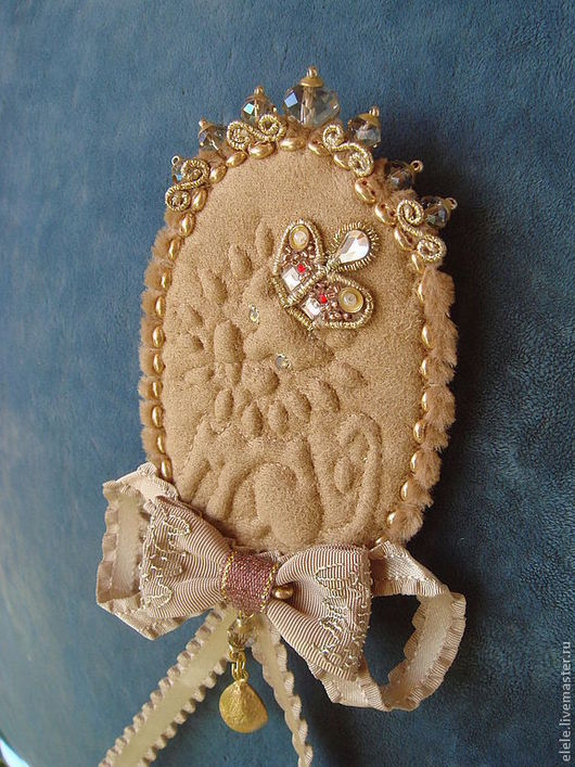 Броши ручной работы. Ярмарка Мастеров - ручная работа. Купить Византийский лев. Handmade. Бежевый, византия, бисер тохо (toho)
