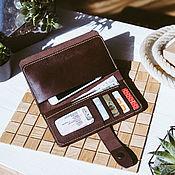 Сумки и аксессуары handmade. Livemaster - original item Leather wallet - Beijing purse. Handmade.