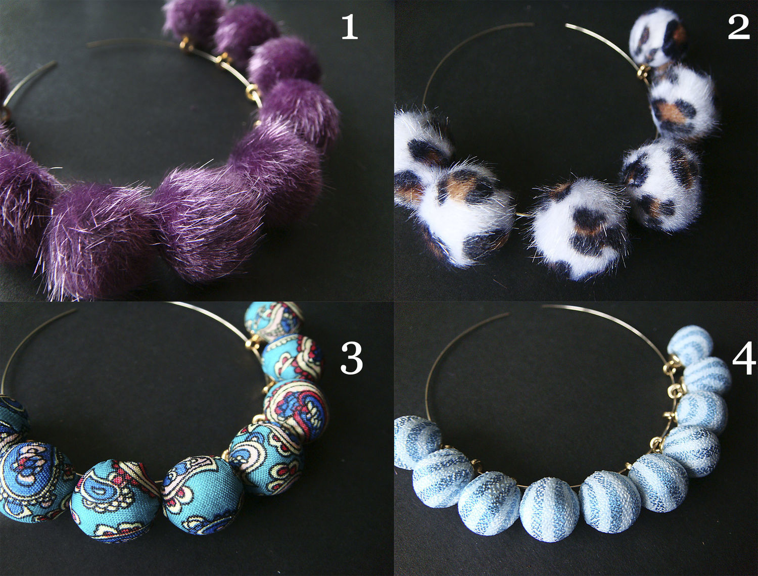 The POM-POM charms mink fur and textile, Pendants, Bryansk,  Фото №1