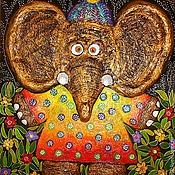 """Картины и панно ручной работы. Ярмарка Мастеров - ручная работа Панно""""Слоня"""".. Handmade."""