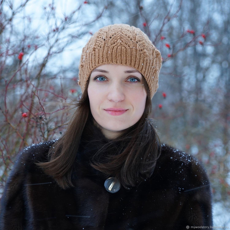 Шапка женская вязаная демисезон универсальный размер, Шапки, Москва,  Фото №1