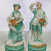 Пара кавалер дама корзина цветы Германия 5
