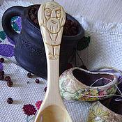 """Посуда ручной работы. Ярмарка Мастеров - ручная работа Кедровая ложка """"Домовой"""". Handmade."""