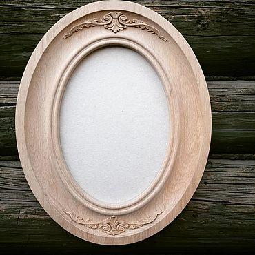 Для дома и интерьера ручной работы. Ярмарка Мастеров - ручная работа Фоторамки: овальная рамка для вышивки,фото, картины из массива дерева. Handmade.