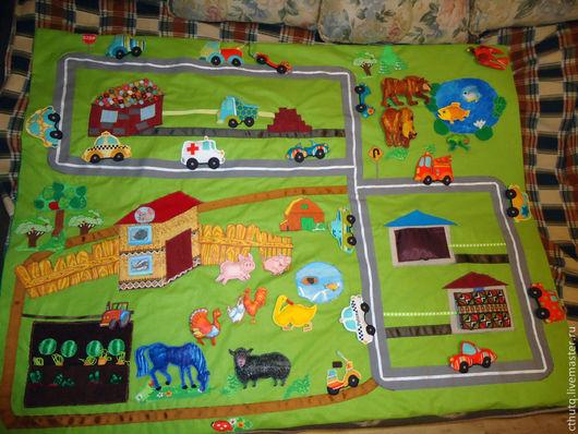 Развивающие игрушки ручной работы. Ярмарка Мастеров - ручная работа. Купить Развивающий коврик. Handmade. Развивающий коврик, животные
