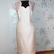 Костюм муаровый платье блузон