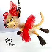 handmade. Livemaster - original item Soft toys: Mouse on the tree, on the bag, in the car. Handmade.